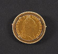 Pièce en or Gregorius III Dei Gratia 1788. Monture formant broch