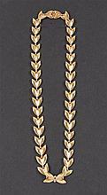 Collier  A motifs d'épis. Or jaune 18 cts. Poids  +- 26 g.