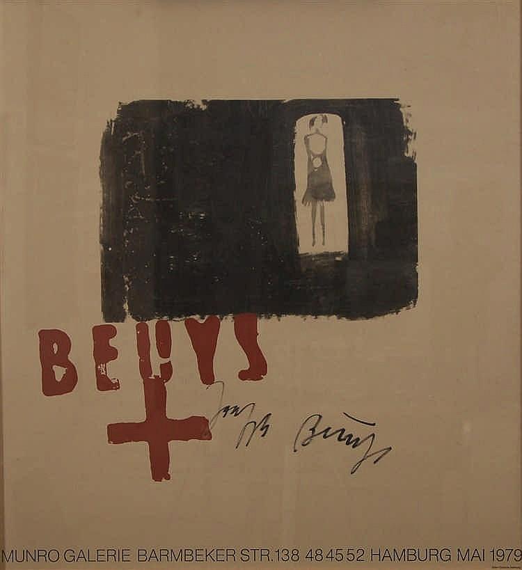 Joseph Beuys  (1921-1986) Affiche Exposition Joseph Beuys à l