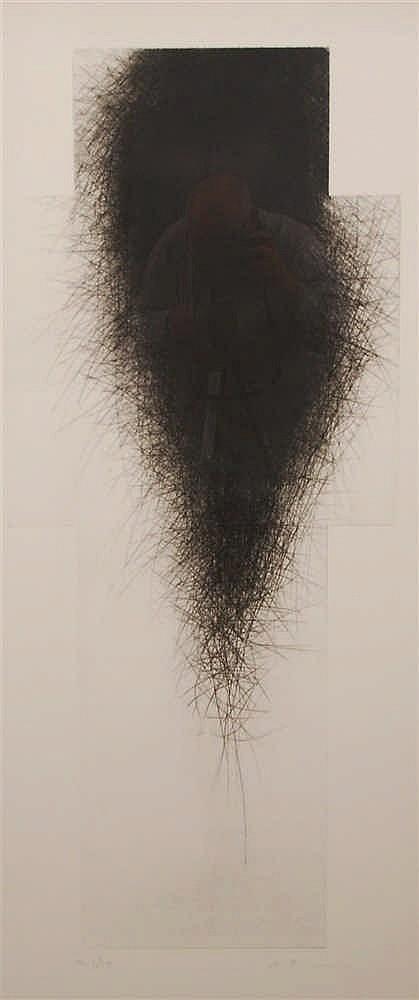 Arnulf Rainer  (1929-) Sans titre Eau-forte signée et numérot