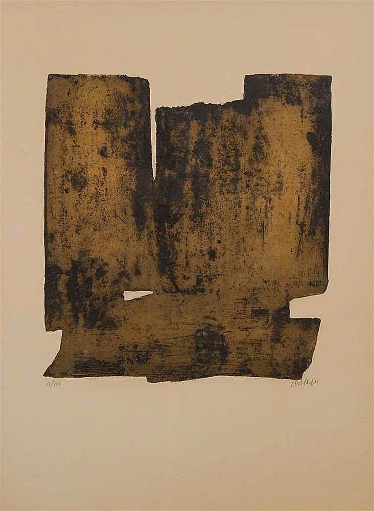 Pierre Soulages  (1919-) Composition III Eau-forte signée et