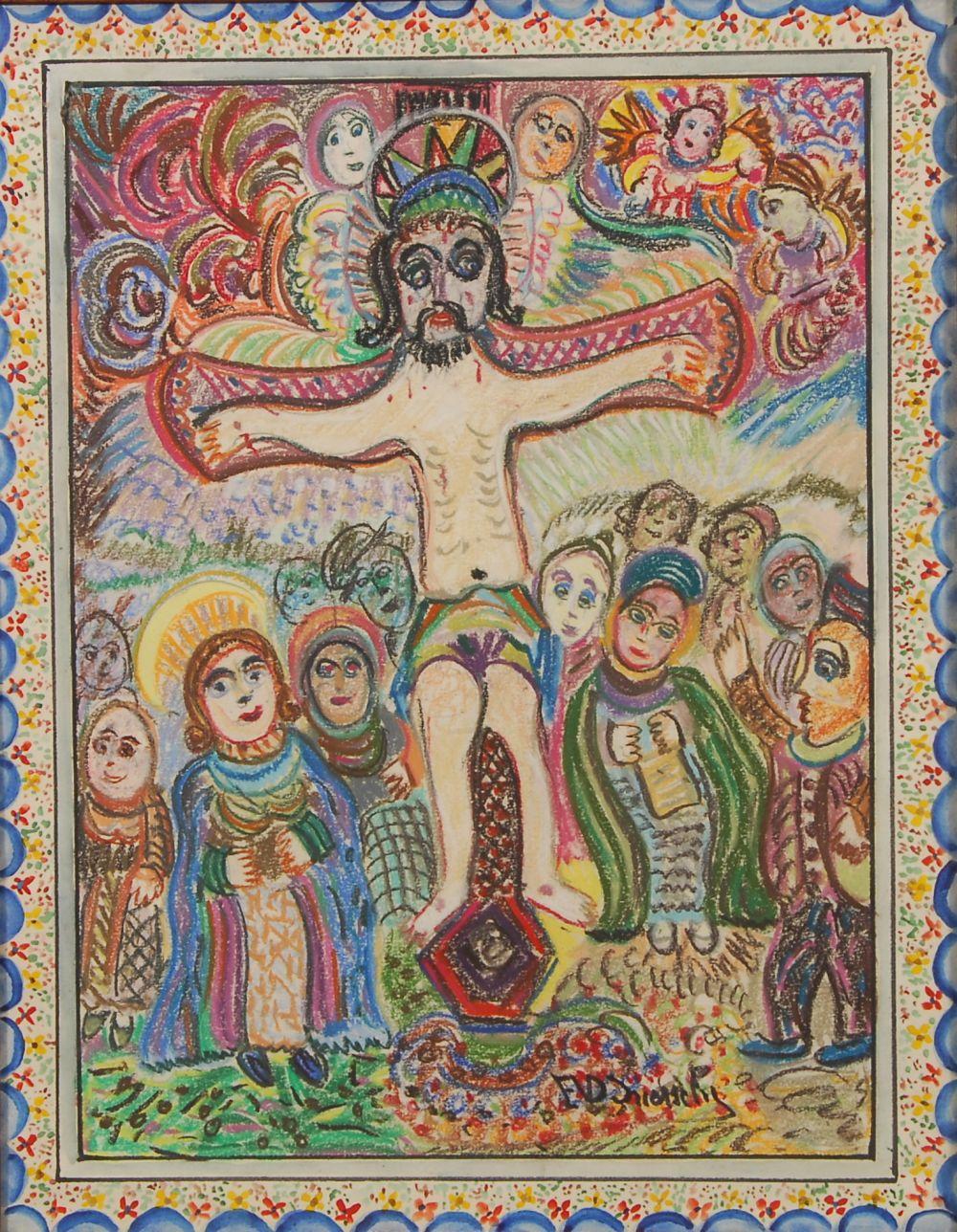 Ernest Van den Driessche (1894-1985) La crucifixion