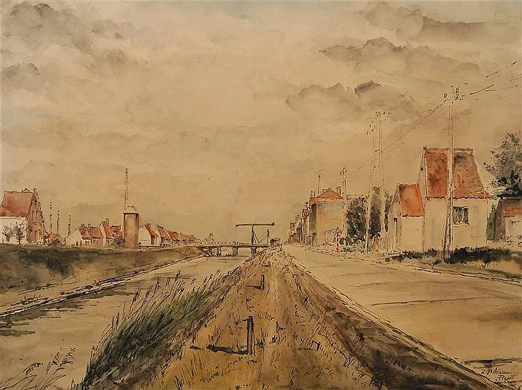 Paul delvaux 1897 1994 le canal wulpen for Paul delvaux le miroir