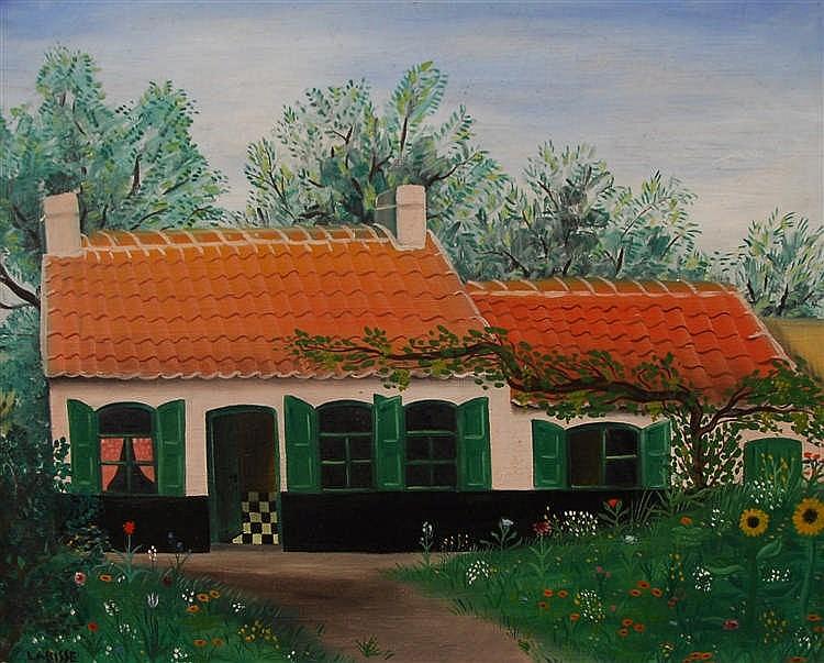 F lix labisse 1905 1982 maison entour e d 39 un jardin fleur for Jardin fleuri maison