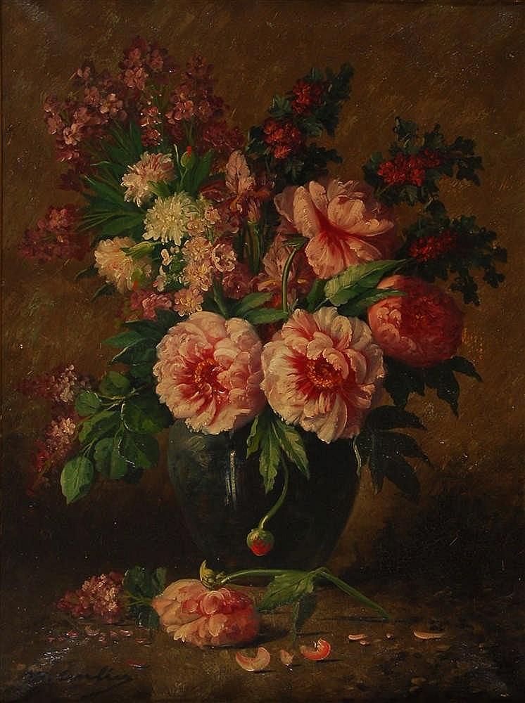 Vases de fleurs avec pivoines Fleurs pivoines