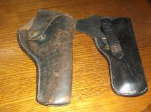 2 old pistol revolver holsters gun 8 and 9 1/4 no  371