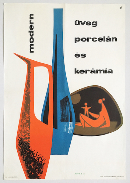 Modern glass porcelain and ceramics commercial poster 1963