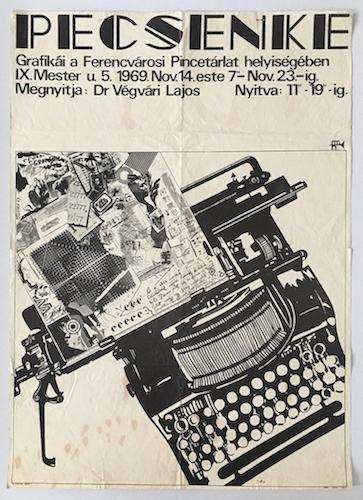 Jozsef Pecsenke exhibition exhibition poster 1969