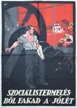 Prosperity comes from social production political propaganda poster 1919