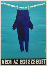 Clean and neat work clothes protect your health safety propaganda poster 1966