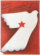 1917 November 7. propaganda poster 1980s