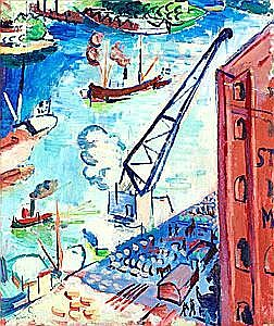 Isaac Grünewald Utsikt över Stadsgården mot