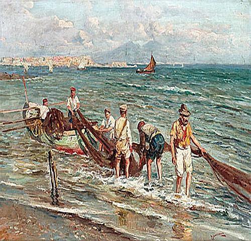 Utl. måleri: GIUSEPPE GIARDIELLO Fiskare i