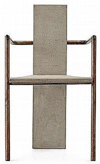 A Jonas Bohlin iron and cast concrete 'Concrete'