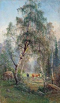 "Johan ""John"" Kindborg 1861-1907 Summer landscape"