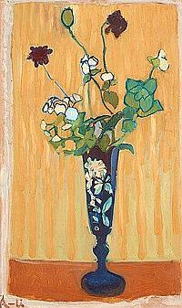 """Ivan Aguéli 1869-1917 """"Blommor i vas"""" (Flowers in"""