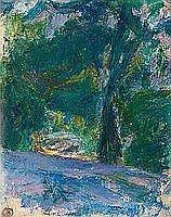 """Sigrid Schauman 1877-1979 """"MOTIF FROM THE PARK""""."""