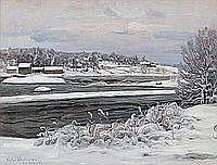 Victor Westerholm 1860-1919 FROM KYMIJOKI. Sign.