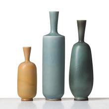 Berndt Friberg, A set of three stoneware vases, Gustavsberg studio, Sweden 1961-67.