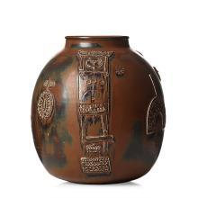 Stig Lindberg, A large stoneware jar, Gustavsberg studio, Sweden 1960.