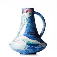 Isaac Grünewald, A stoneware vase, Rörstrand, Sweden 1943.