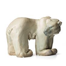 Michael Schilkin, A stoneware sculpture of a polar bear, Arabia, Finland 1945.