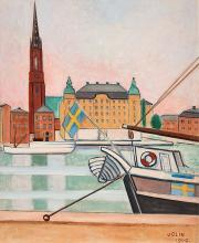 Einar Jolin, View over Riddarholmen