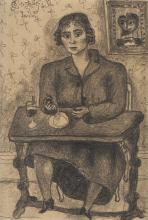 Bror Hjorth, A woman by a table