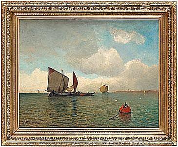 SOPHUS JACOBSEN Båtar på redden