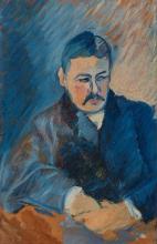 Ivan Aguéli, Portrait of a man in a blue suit