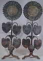 Thomas Jeckyll pair Arts & Crafts andirons c, Thomas Jeckyll, Click for value