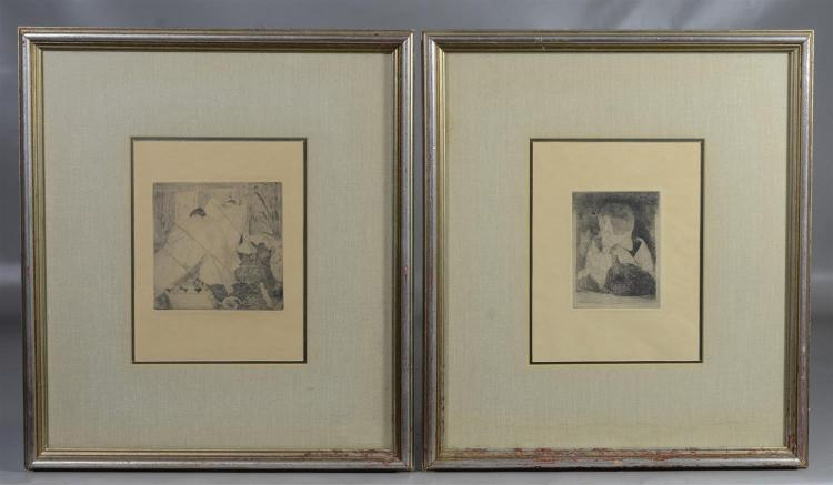(2) Edgar Degas etchings