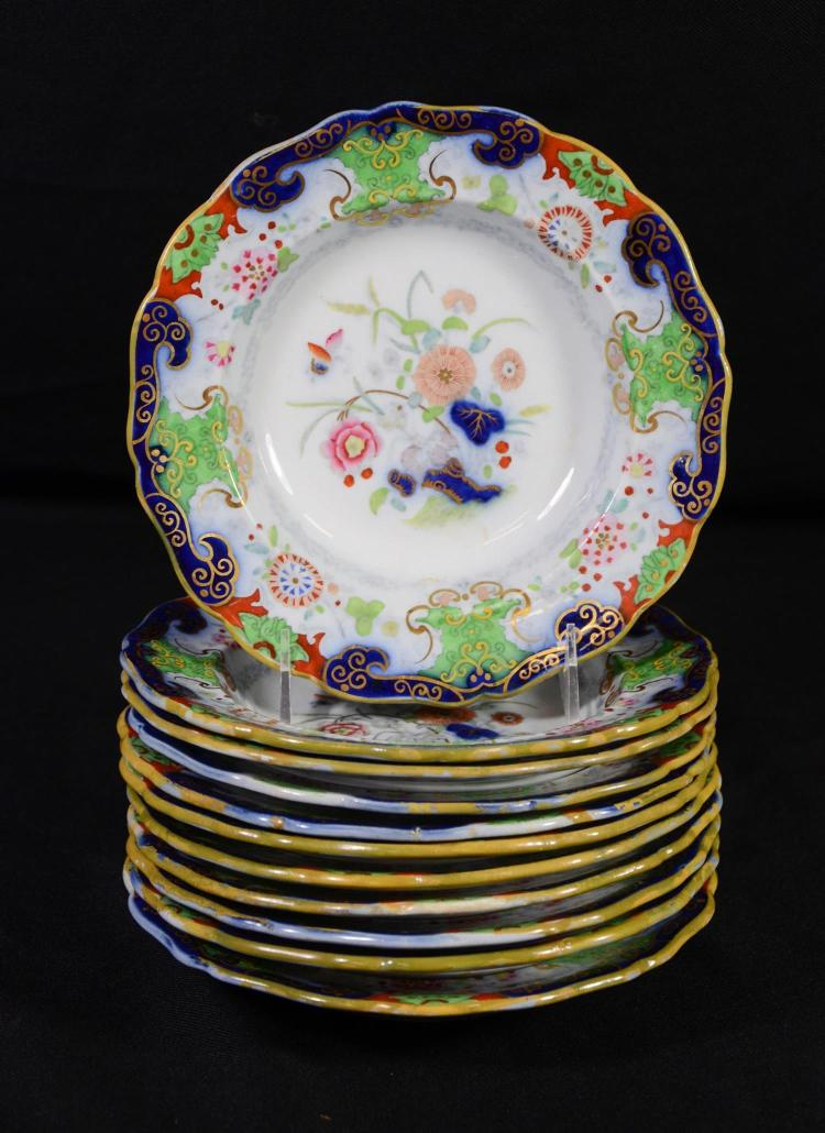(11) Real Ironstone Imari palette soup bowls, 7 3/4