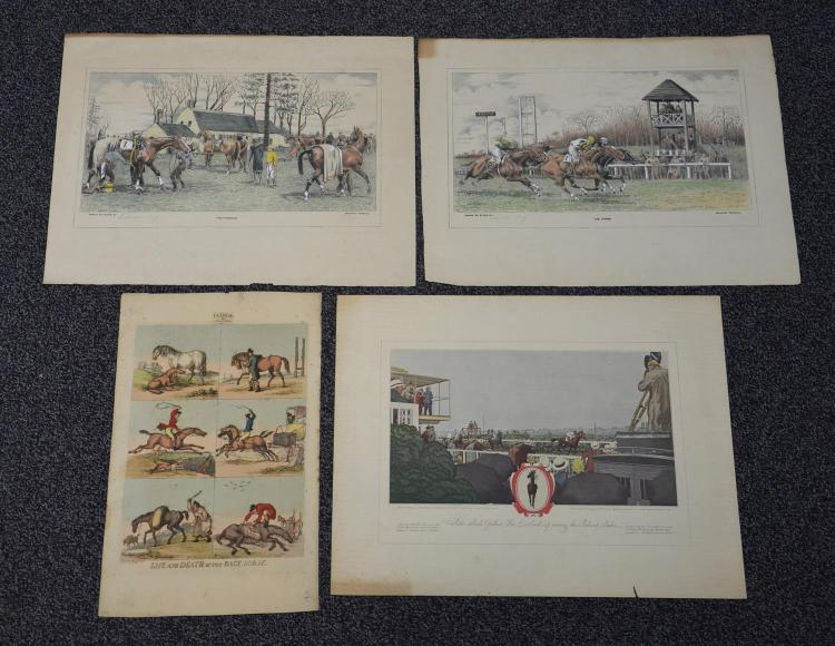 (4) Hunt Lihographs; (2) pencil signed Edward