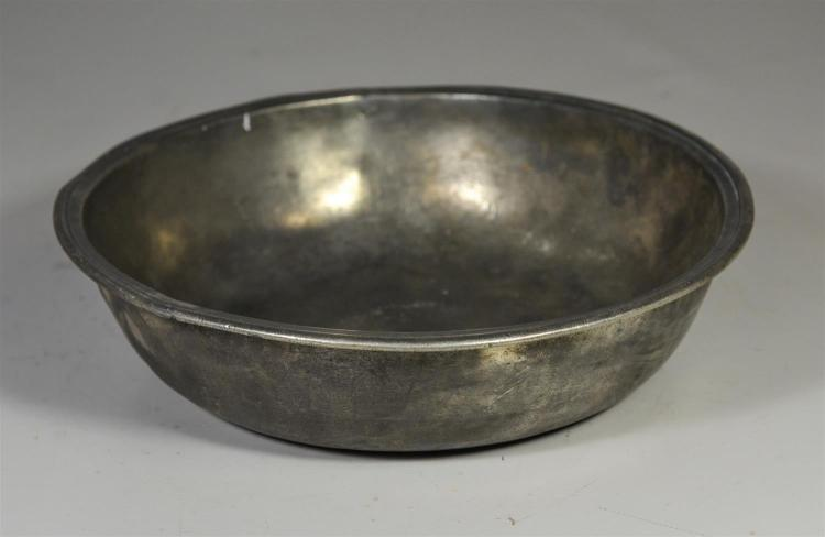 Alexander Cleeve & Son, London pewter basin, hallmarks and touchmarks from 1688-1763, 12