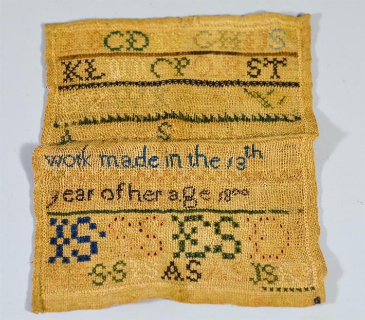 Asenath Smith, needlework sampler dated 1800,