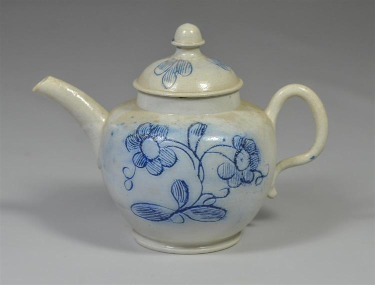 Child''s salt glaze sgraffito early English teapot, 5