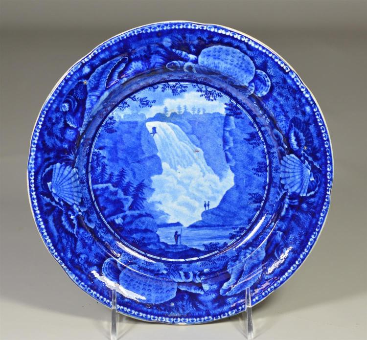 English Enoch Wood & Sons pottery pearlware plate,