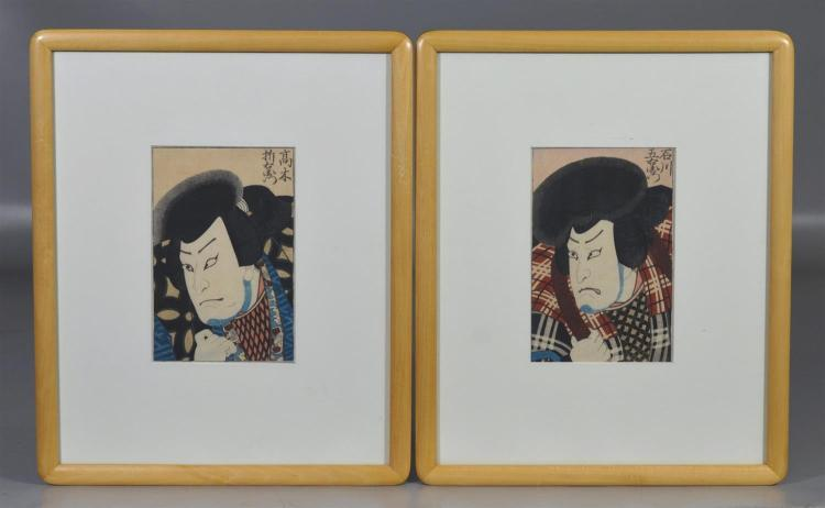 Four (4) framed Japanese prints by Toyokuni III,