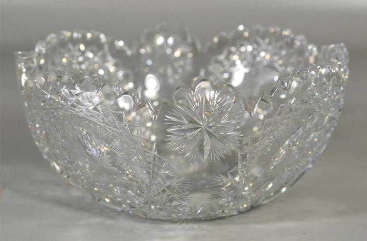 Hawkes brilliant cut glass bowl, 8