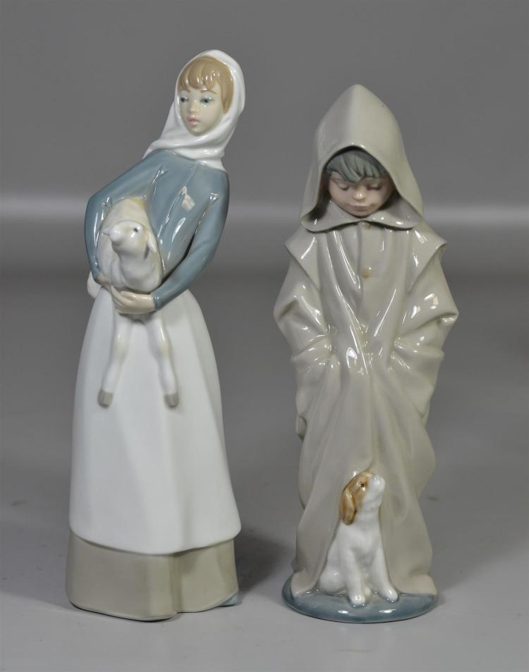 Lladro figurine, Girl with Lamb, 11 3/4