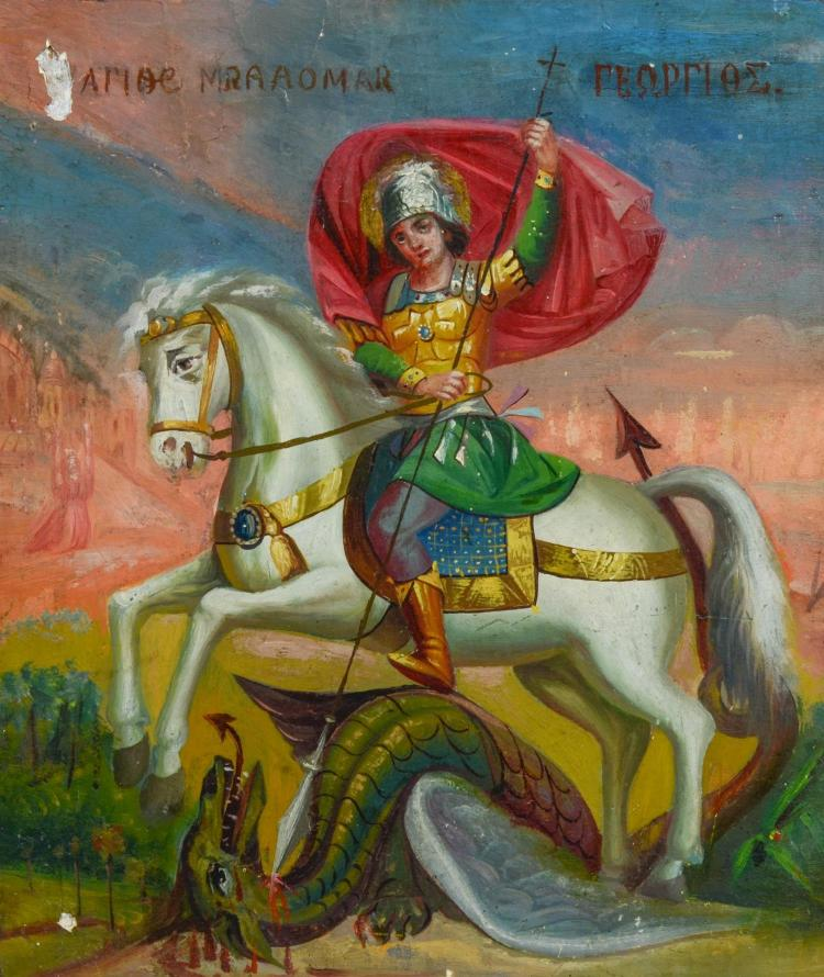 St. George and the Dragon icon, 11