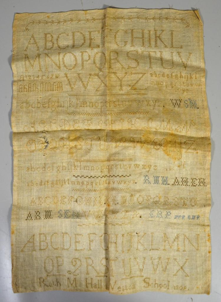 1809 Westown School alphanumeric sampler,