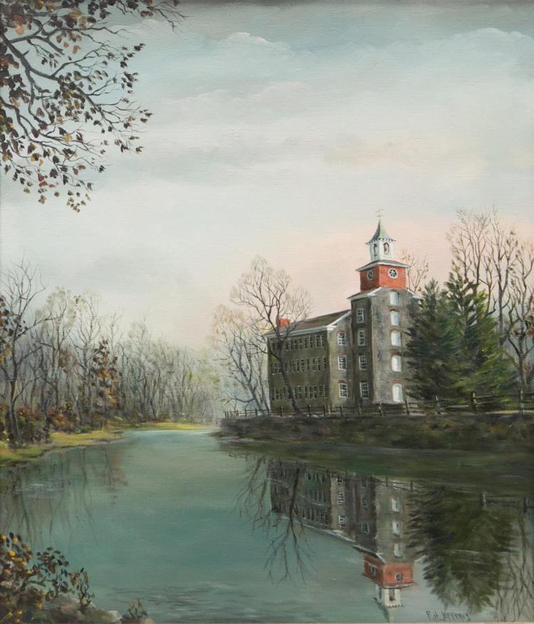 F H Jefferis, American 20th c, Wilmington, Delaware artist,