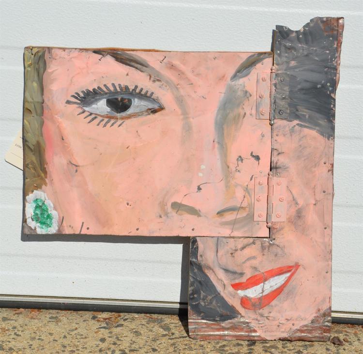 Tom Judd painting on metal