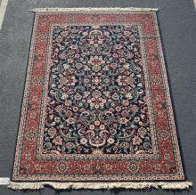 Machine made Persian style rug, 5''7