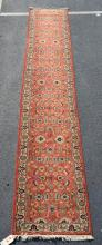 Turkish runner rug, 2''8'' X 16''; condition: no issues
