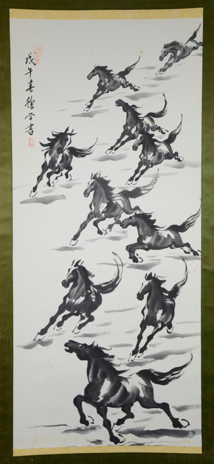 Contemporary Chinese horse scroll, 66