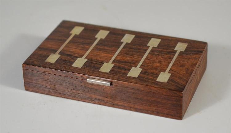 Hans Hansen Denmark sterling mounted rosewood box, 7