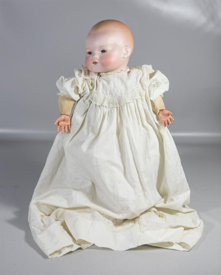 Armand Marseille large My Dream Baby bisque head doll, sleep eyes, closed mouth, cloth body, celluloid hands, marked on back of head...